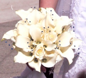 The bouquet on her wedding day