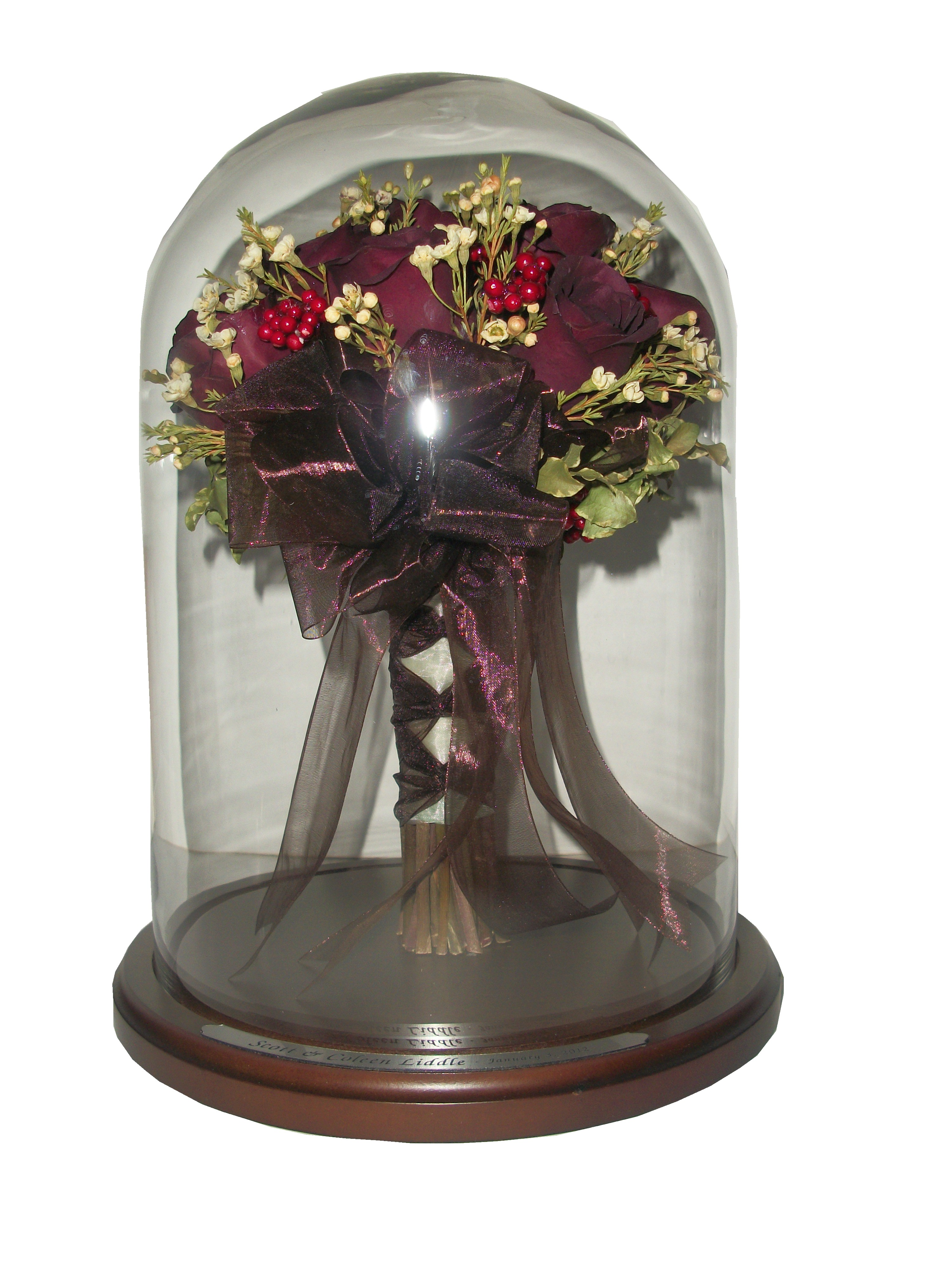 Beauty And The Beast Style Wedding Bouquet Dome