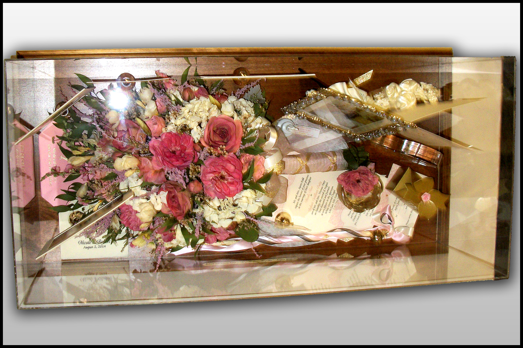Dried Funeral Flowers