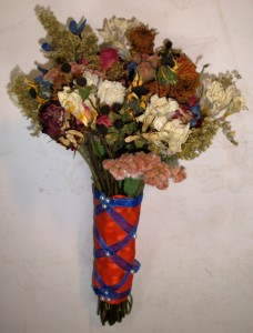Flowers dried by the bride