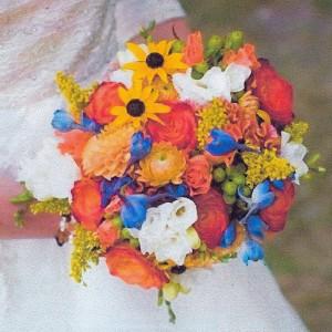Bouquet on her wedding day!