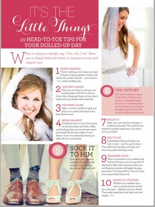 Utah Valley Bride 2013 10 Head-To-Toe Tips For Your Dolled-Up Day