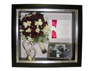 Preserved Wedding Bouquet and Memorabilia