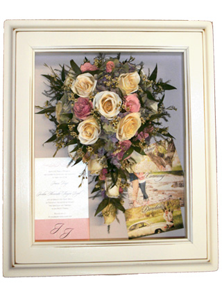 Preserved Bridal Bouquet In Shadow Box