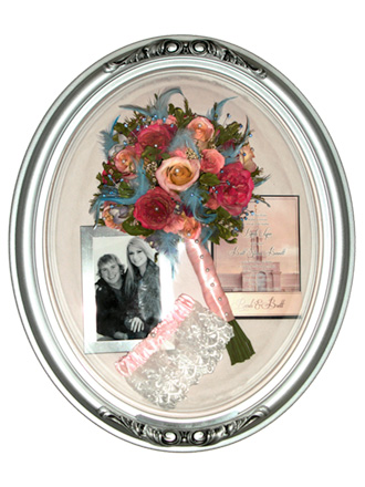 Wedding Bouquet Preservation in Silver Oval Frame